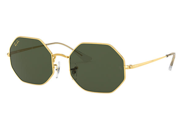 Ray-Ban Sunglasses OCTAGON 1972 LEGEND GOLD Gold with Green Classic G-15 lens