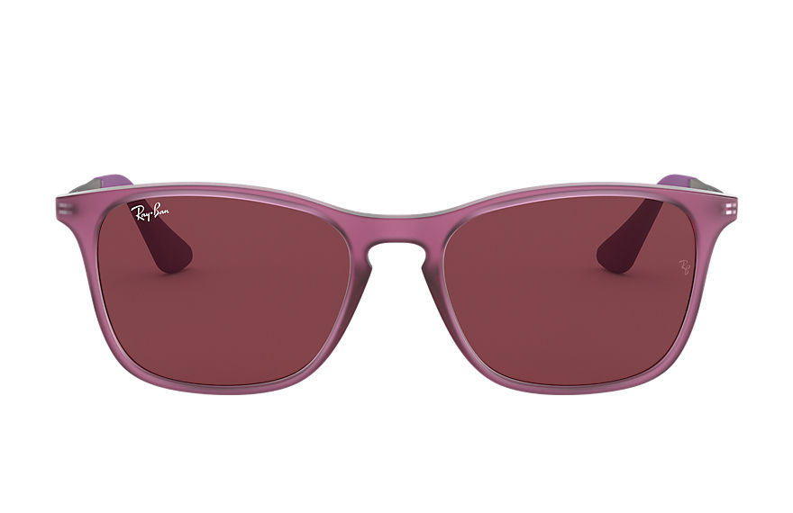 Ray-Ban Sunglasses CHRIS JUNIOR Transparent Violet with Dark Violet Classic lens