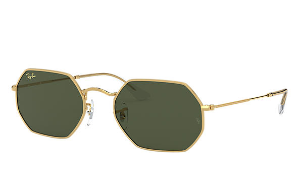 Ray-Ban Sunglasses OCTAGONAL LEGEND GOLD Gold with Green Classic G-15 lens