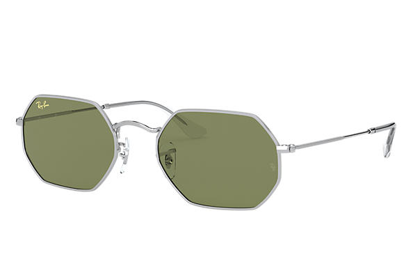 雷朋太阳镜 Sunglasses OCTAGONAL LEGEND GOLD 金色 綠色 經典 G-15 镜片