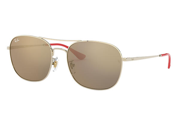 Ray-Ban 0RB3613D-RB3613D CNY EDITION LOW BRIDGE FIT Gold; Red,Gold SUN