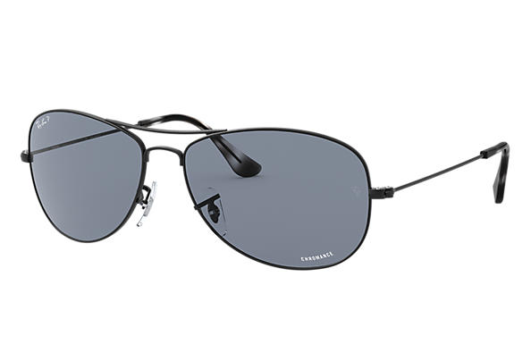 레이밴 Sunglasses RB3562 CHROMANCE 블랙 블루 Polarized 렌즈