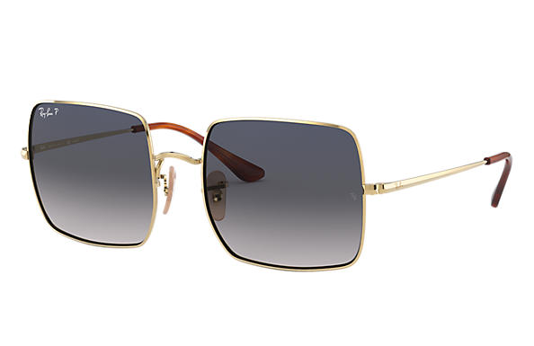 Ray-Ban Sunglasses SQUARE 1971 CLASSIC Gold with Blue/Grey Gradient lens