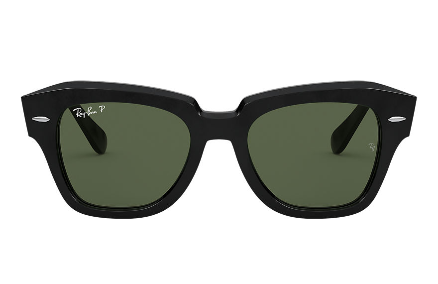 Ray-Ban Sunglasses STATE STREET Black with Green Classic G-15 lens