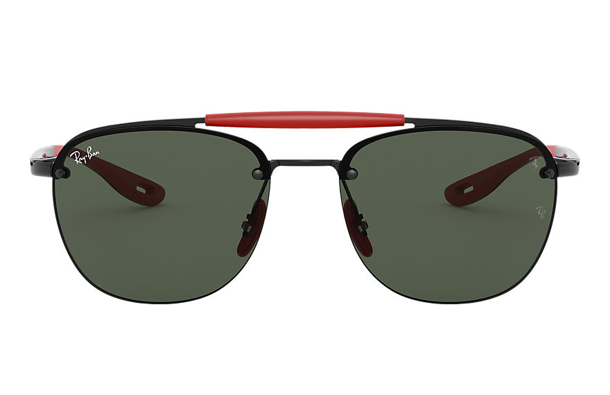 Ray-Ban Sunglasses RB3662M SCUDERIA FERRARI COLLECTION Black with Green Classic lens