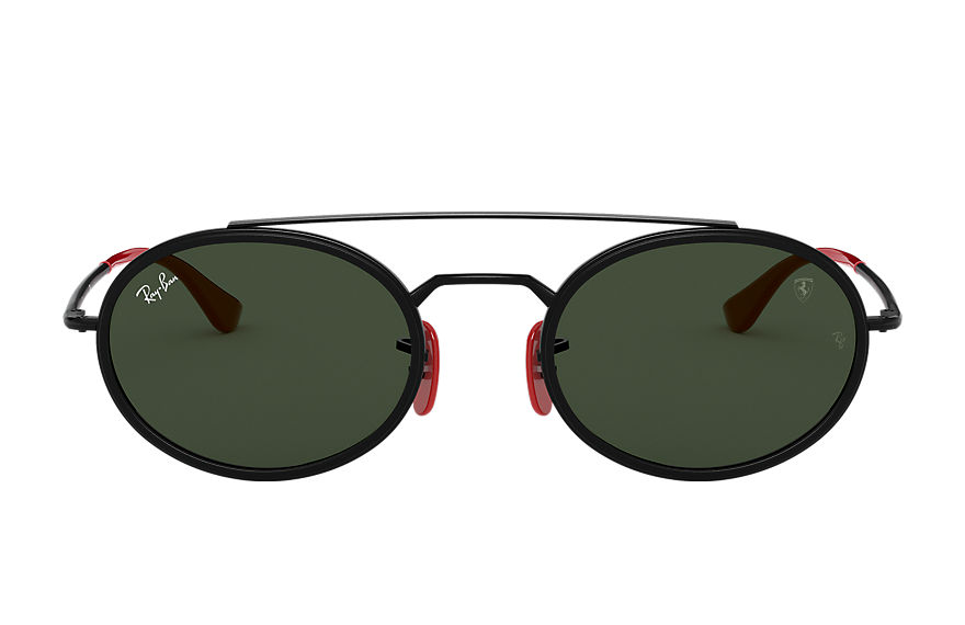 Ray-Ban Sunglasses RB3847M SCUDERIA FERRARI COLLECTION Black with Green Classic G-15 lens