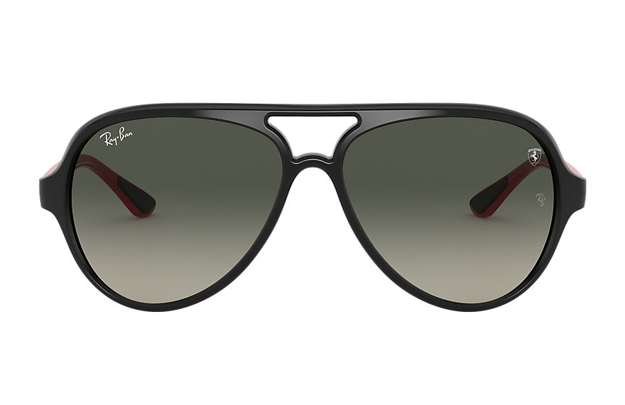 Ray-Ban Sunglasses RB4125M SCUDERIA FERRARI COLLECTION Black with Grey Gradient lens