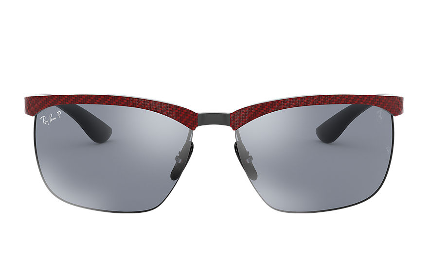 Ray-Ban		 Sunglasses RB8324M SCUDERIA FERRARI COLLECTION Rood met brillenglas Blauw Spiegel Chromance