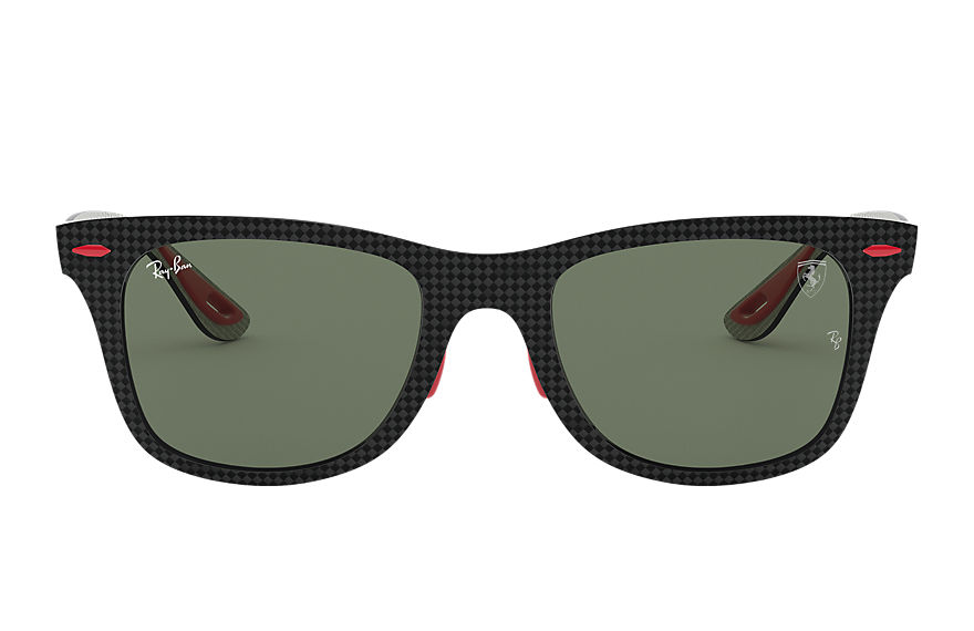 Ray-Ban Sunglasses RB8395M SCUDERIA FERRARI COLLECTION Black with Green Classic G-15 lens