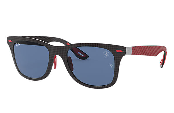 Ray-Ban Sonnenbrillen RB8395M SCUDERIA FERRARI COLLECTION Black mit Dark Blue Classic Gläsern