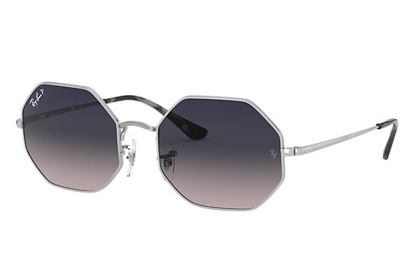 Ray-Ban Sunglasses OCTAGON 1972 Silver with Blue/Grey Gradient lens