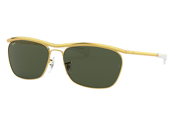 Ray-Ban Sunglasses OLYMPIAN II DELUXE Gold with Green Classic G-15 lens