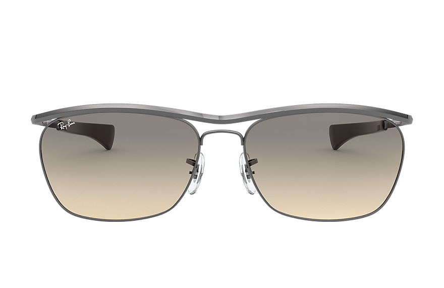 Ray-Ban Sunglasses OLYMPIAN II DELUXE Shiny Gunmetal with Light Grey Gradient lens