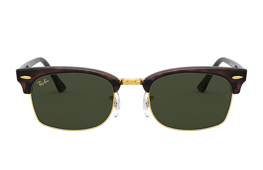 Ray-Ban  occhiali da sole RB3916 UNISEX 001 clubmaster square legend gold mock tortoise 8056597242387