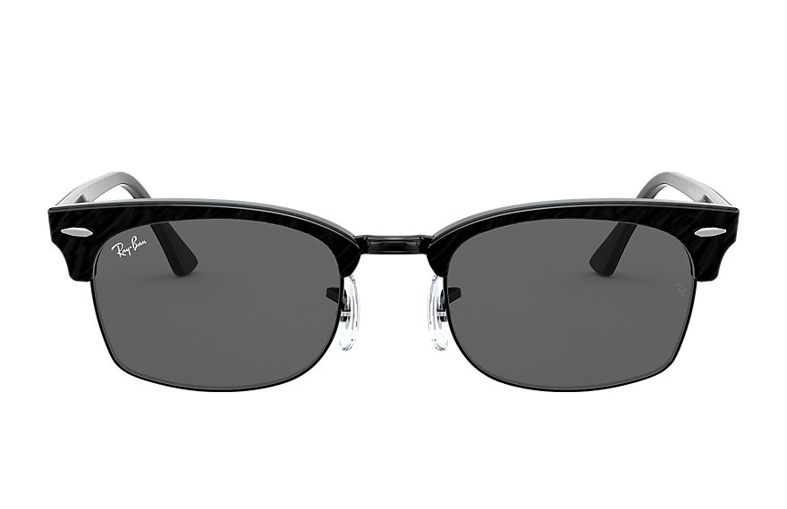 Ray-Ban  sunglasses RB3916 UNISEX 001 clubmaster square wrinkled black 8056597242400