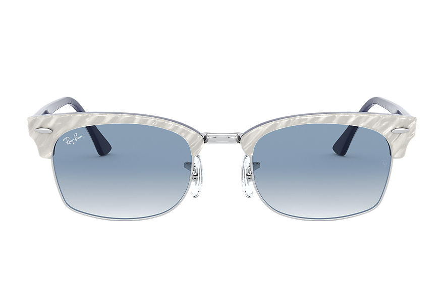 Ray-Ban  occhiali da sole RB3916 UNISEX 001 clubmaster square wrinkled light grey 8056597242424