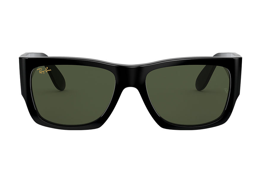 Ray-Ban Sunglasses NOMAD LEGEND GOLD Shiny Black with Green Classic G-15 lens