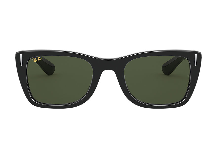 Ray-Ban Sunglasses CARIBBEAN LEGEND GOLD Shiny Black with Green Classic G-15 lens