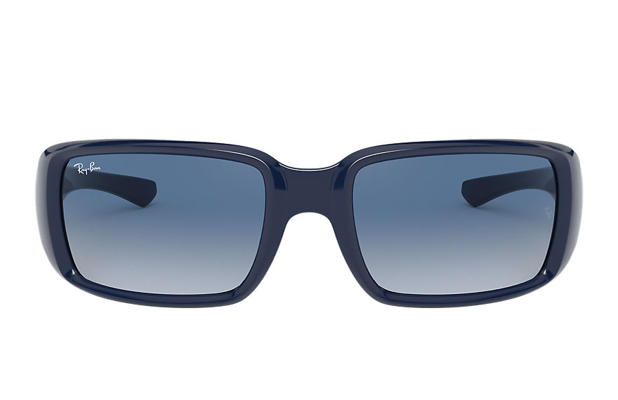 Ray-Ban Sunglasses RB4338 Shiny Blue with Blue Gradient lens
