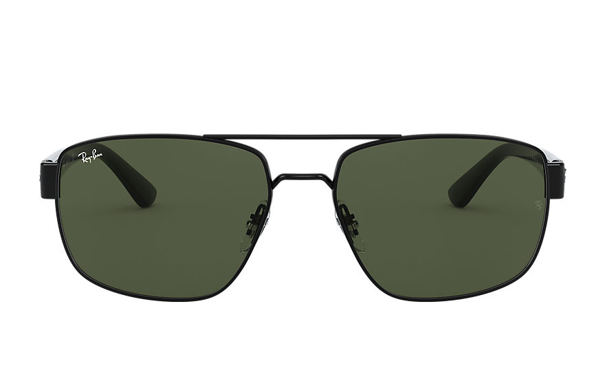 Ray-Ban Sunglasses RB3663 Shiny Black with Green Classic G-15 lens
