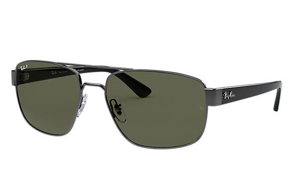 Ray-Ban Sunglasses RB3663 Gunmetal with Green Classic G-15 lens