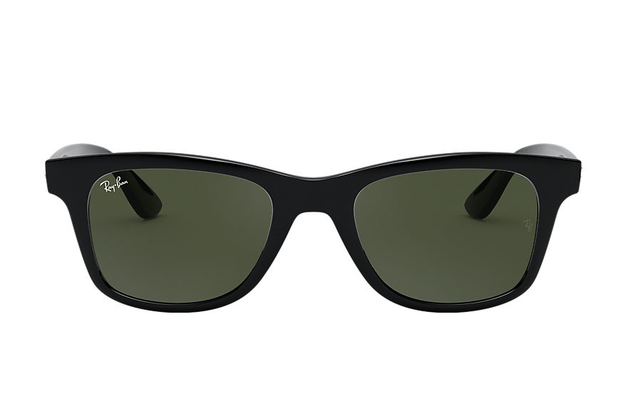 Ray-Ban Sunglasses RB4640 Shiny Black with Green Classic G-15 lens