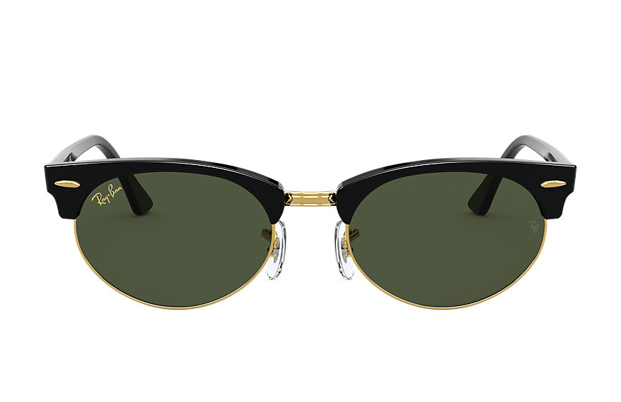 Ray-Ban  occhiali da sole RB3946 UNISEX 002 clubmaster oval legend gold nero brillante 8056597243438