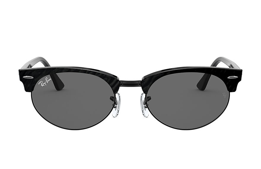 Ray-Ban  gafas de sol RB3946 UNISEX 002 clubmaster oval wrinkled black 8056597243452