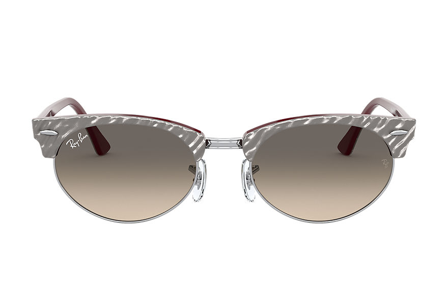 Ray-Ban  gafas de sol RB3946 UNISEX 002 clubmaster oval wrinkled light grey 8056597243476