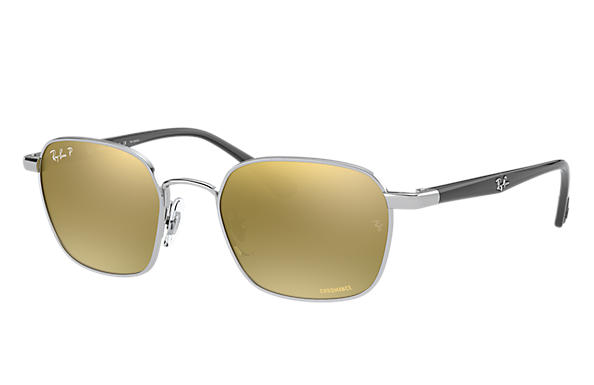 Ray-Ban Sunglasses RB3664 CHROMANCE Shiny Silver with Green Mirror Chromance lens