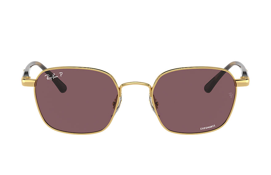 Ray-Ban  sunglasses RB3664CH MALE 001 rb3664 chromance shiny gold 8056597243544