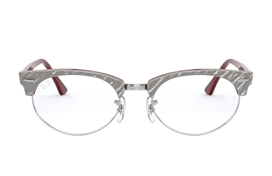 Ray-Ban  sehbrillen RX3946V UNISEX 004 clubmaster oval optics wrinkled light grey 8056597244848
