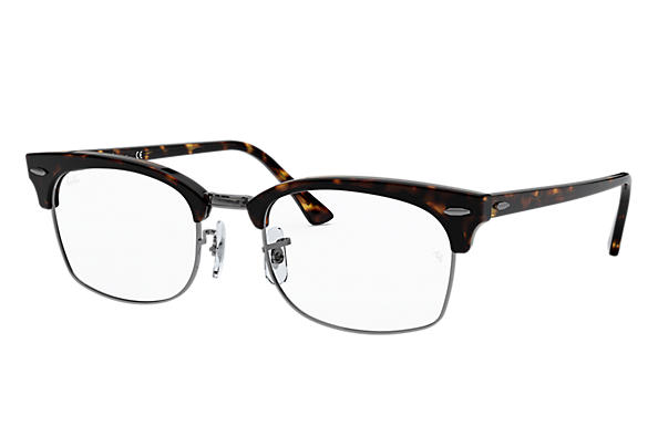 Ray-Ban Sehbrillen RB3916V CLUBMASTER SQUARE OPTICS Shiny Havana