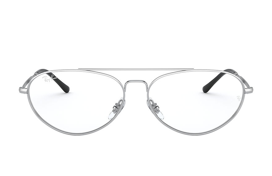 Ray-Ban  sehbrillen RX6454 UNISEX 002 rb6454 shiny silver 8056597246385
