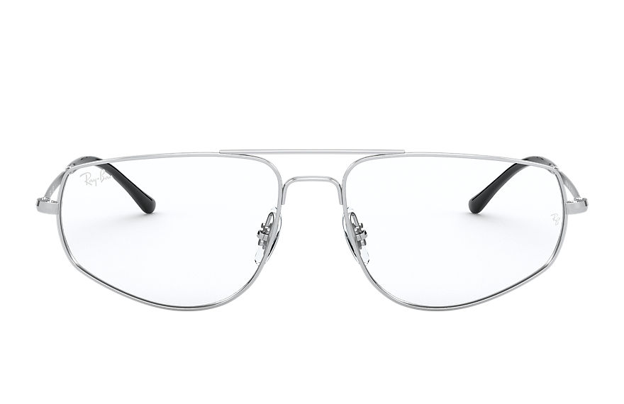 Ray-Ban  sehbrillen RX6455 UNISEX 001 rb6455 shiny silver 8056597246491