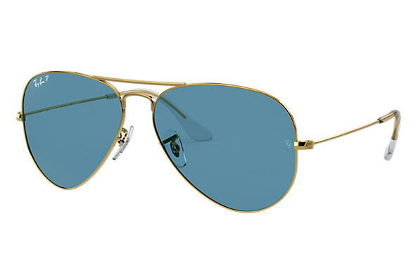 Ray-Ban Sunglasses AVIATOR CLASSIC Gold with Black Classic lens