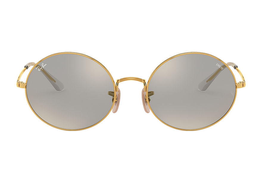 Ray-Ban  sunglasses RB1970 UNISEX 002 oval 1970 mirror evolve blank guld 8056597260367