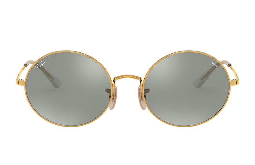 Ray-Ban  sunglasses RB1970 UNISEX 001 oval 1970 mirror evolve blank guld 8056597260381