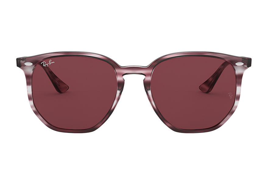 Ray-Ban  sunglasses RB4306 UNISEX 001 rb4306 striped bordeaux havana 8056597260404