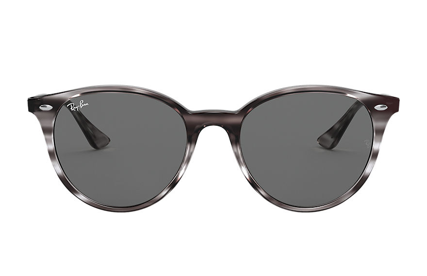 Ray-Ban Sunglasses RB4305 Striped Grey Havana with Dark Grey Classic lens