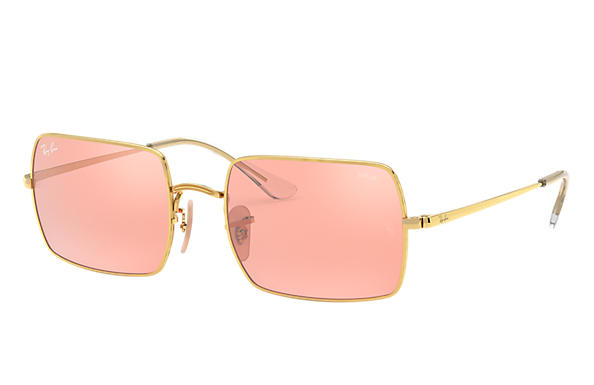 Ray-Ban 0RB1969-RECTANGLE 1969 MIRROR EVOLVE Shiny Gold,Gold; Gold SUN