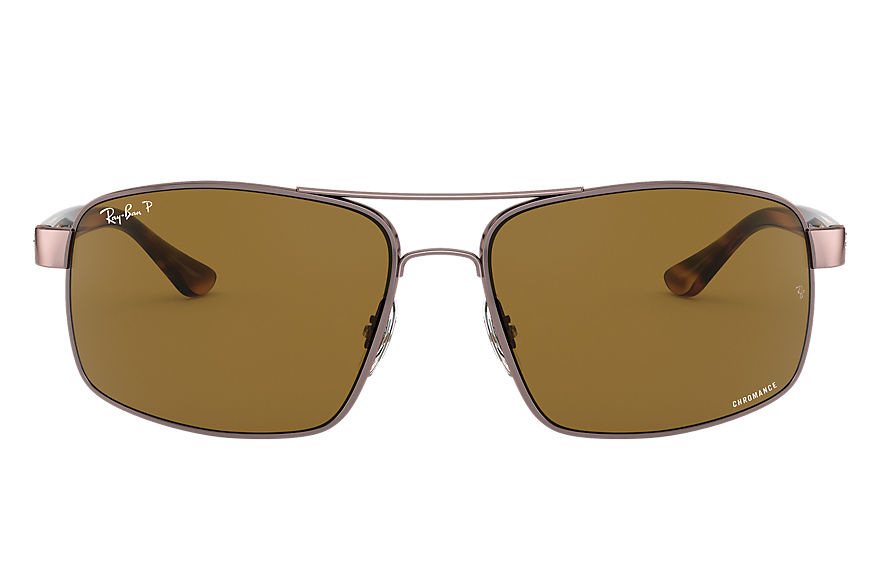 Ray-Ban Sunglasses RB3604 CHROMANCE Light Brown with Brown Polarized lens