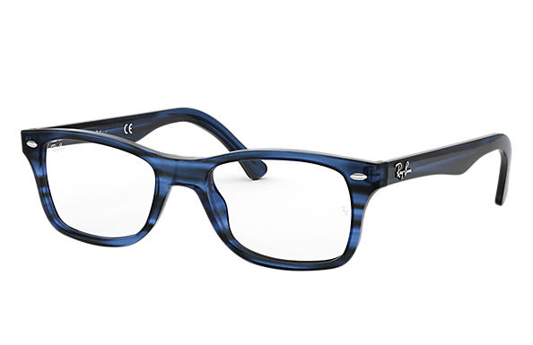 Ray-Ban Eyeglasses RB5228 Striped Blue