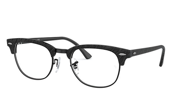 Ray-Ban 0RX5154-CLUBMASTER MARBLE OPTICS Wrinkled Black,Black OPTICAL