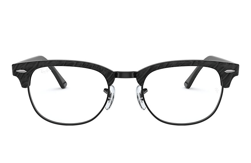 Ray-Ban Lunettes-de-vue CLUBMASTER MARBLE OPTICS Wrinkled Black
