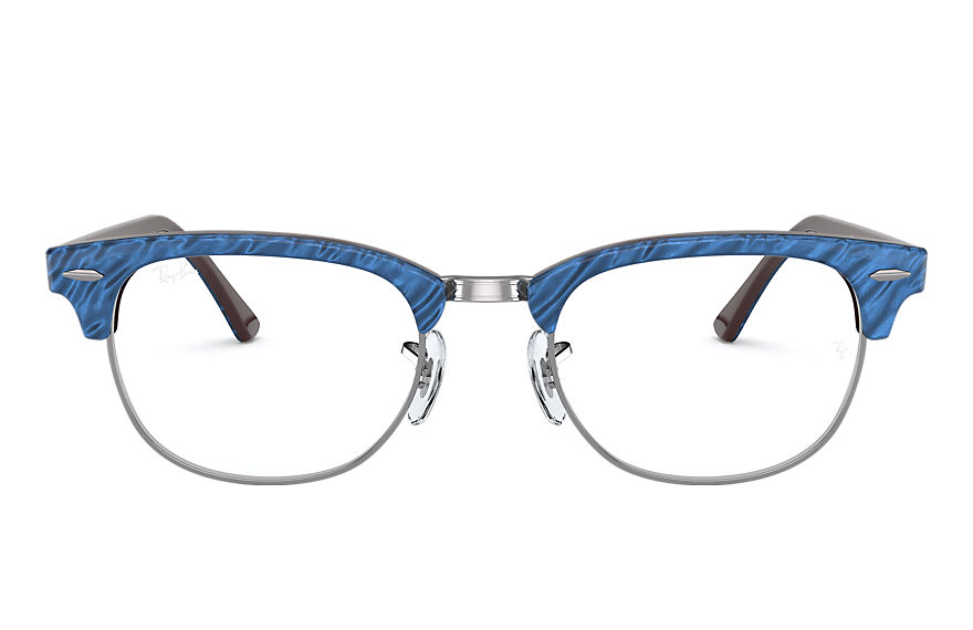 Ray-Ban  sehbrillen RX5154 UNISEX 001 clubmaster marble optics wrinkled blue 8056597261616
