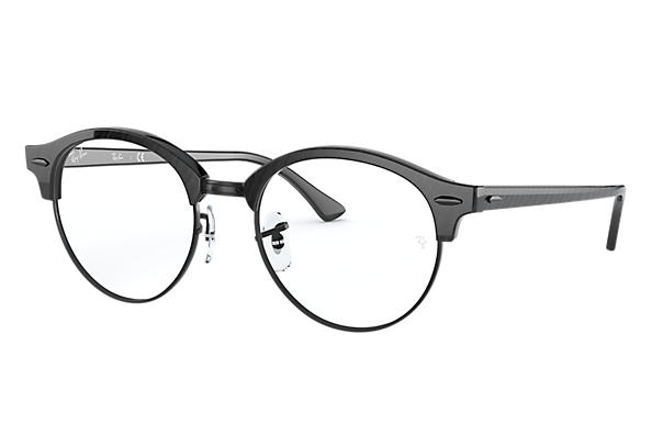 Ray-Ban Sehbrillen CLUBROUND MARBLE OPTICS Schwarz gemustert