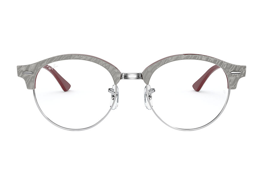 Ray-Ban  sehbrillen RX4246V UNISEX 002 clubround marble optics wrinkled light grey 8056597261685