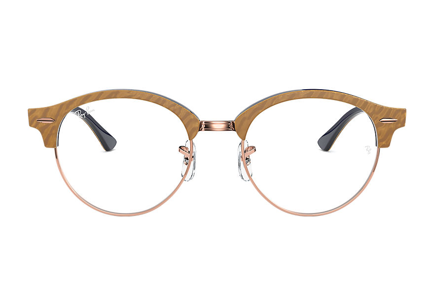 Ray-Ban  lunettes de vue RX4246V UNISEX 002 clubround marble optics wrinkled beige 8056597261692
