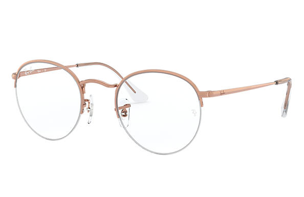 Ray-Ban Eyeglasses ROUND GAZE Shiny Rose Gold